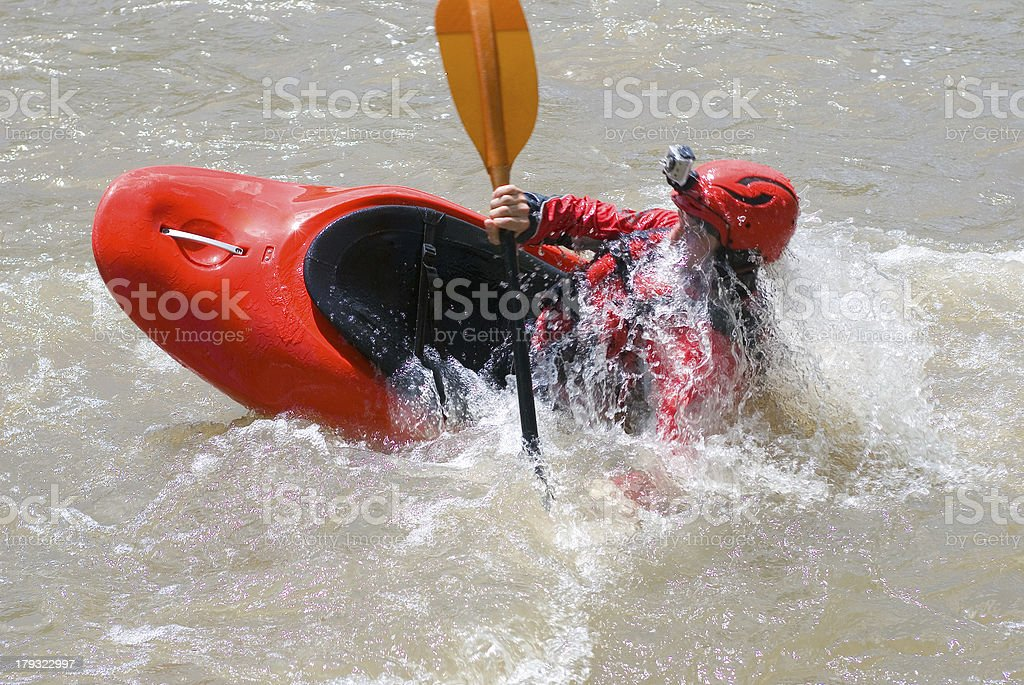 white water kayaking royalty-free stock photo