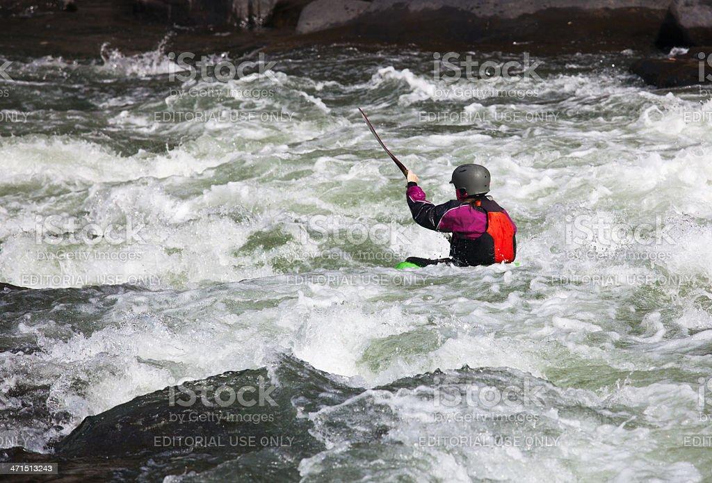 White water kayaking royalty-free stock photo