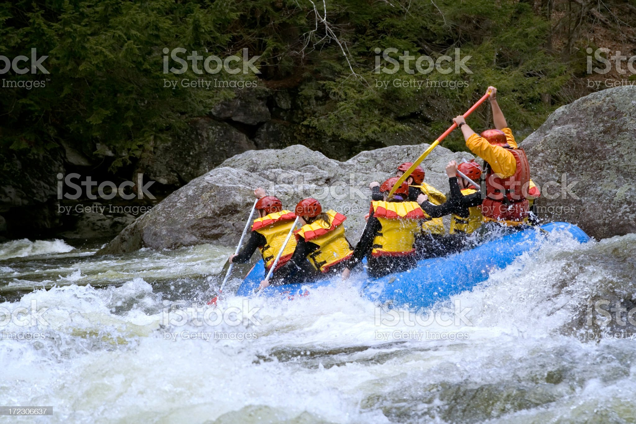 White Water Rafting 2 royalty-free stock photo