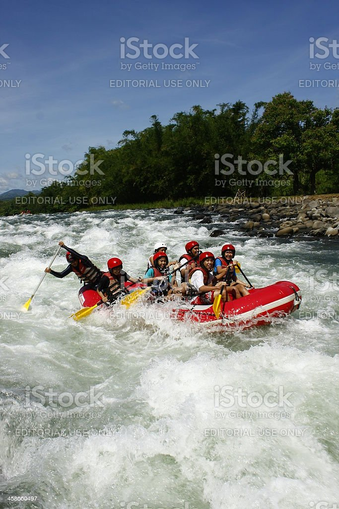 White Water Rafting At Cagayan De Oro Philippines stock photo