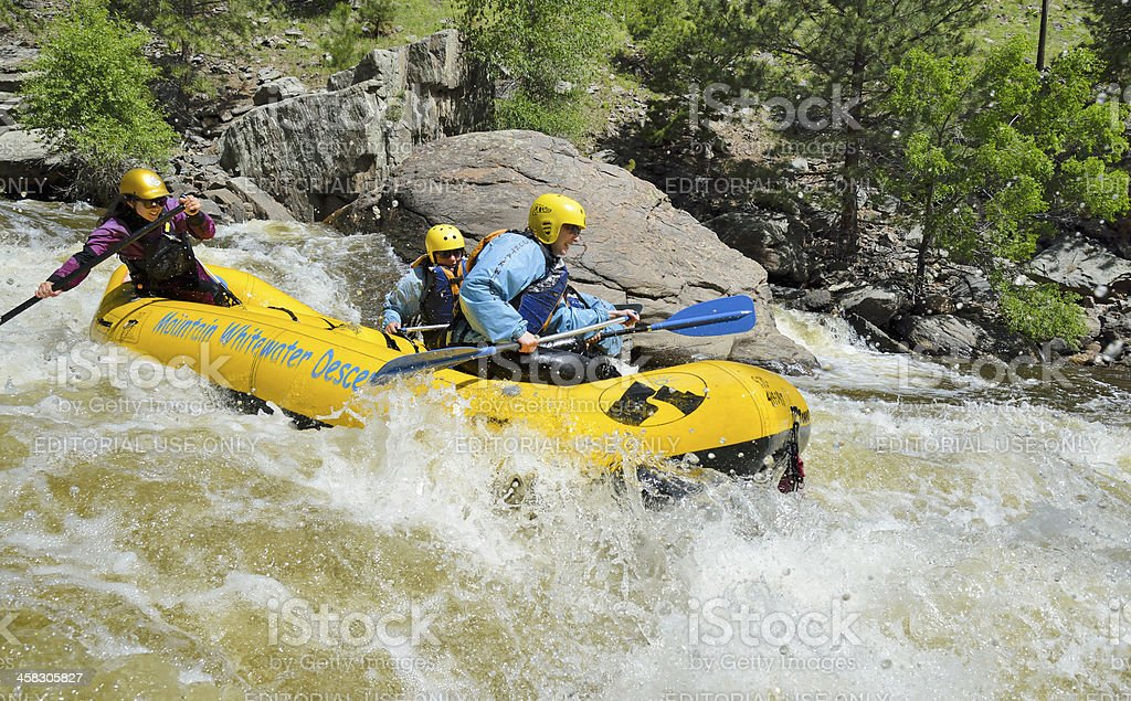 White Water Rafting, Colorado royalty-free stock photo