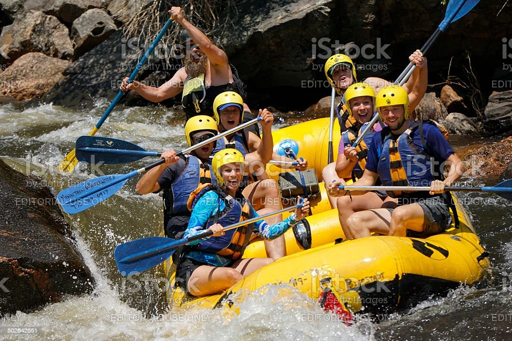 White Water Rafting, Colorado stock photo