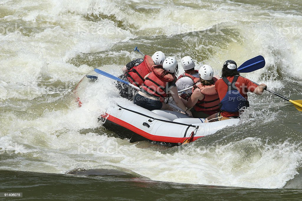 White Water Rafting II royalty-free stock photo