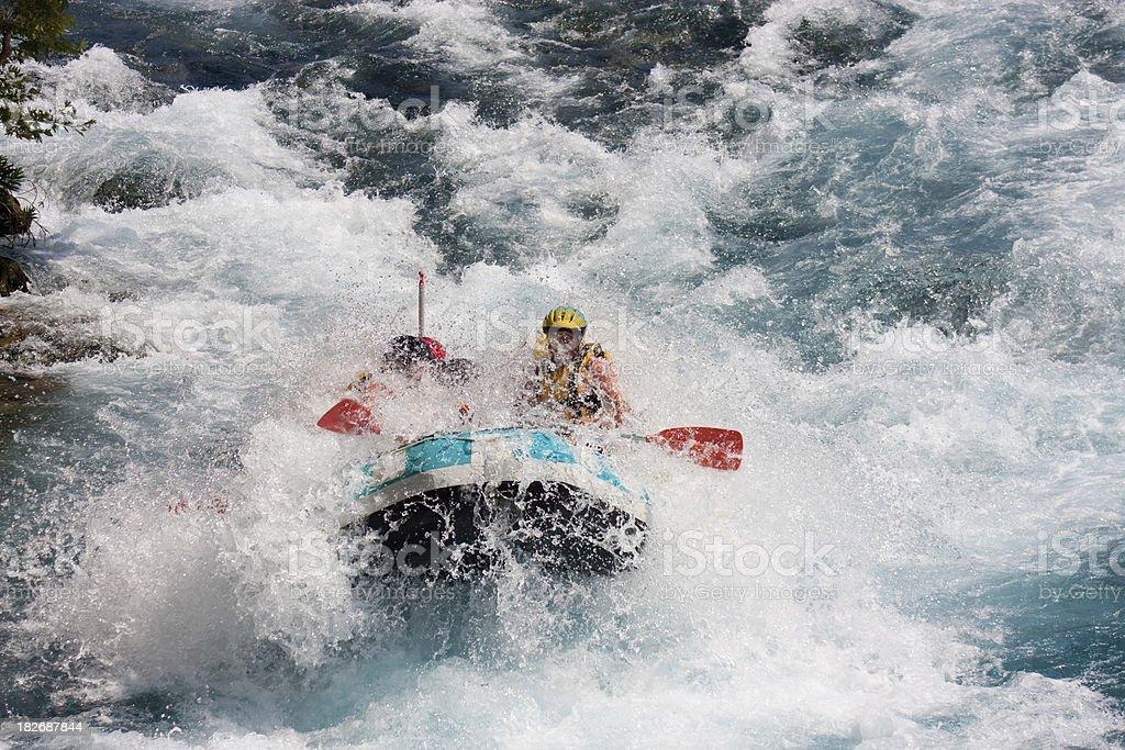 White water rafting in Antalya royalty-free stock photo