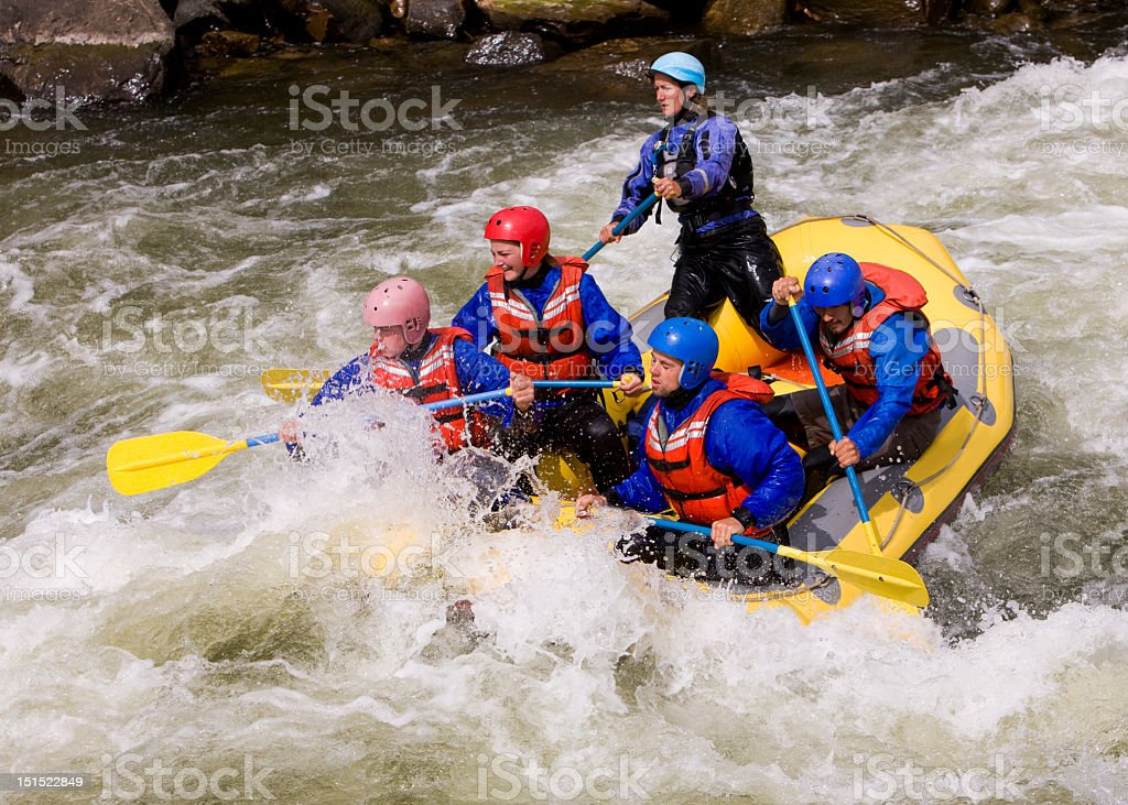 White Water Rafting In Colorado stock photo
