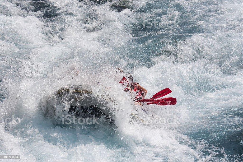 White water rafting in Koprulu kanyon Antalya royalty-free stock photo
