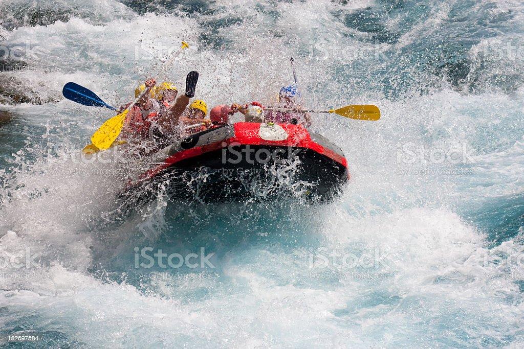 White water rafting in Koprulu Kanyon Antalya, Turkey royalty-free stock photo