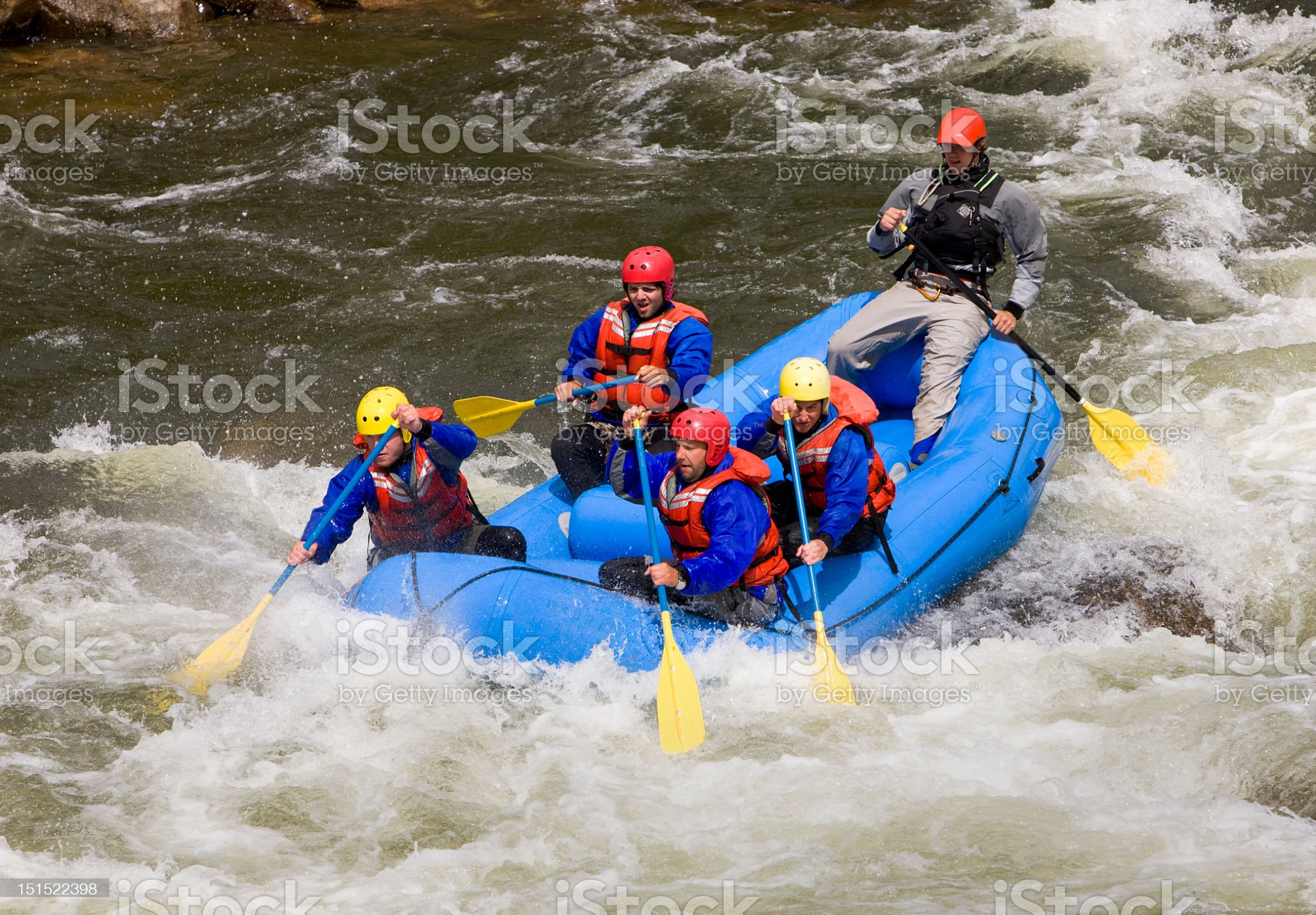 White Water Rafting In Western USA royalty-free stock photo