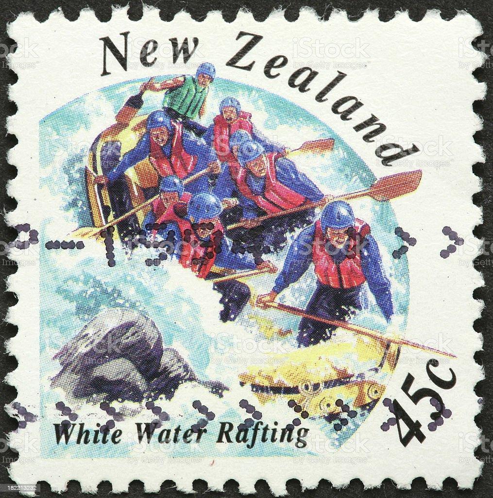 white water rafting New Zealand royalty-free stock photo