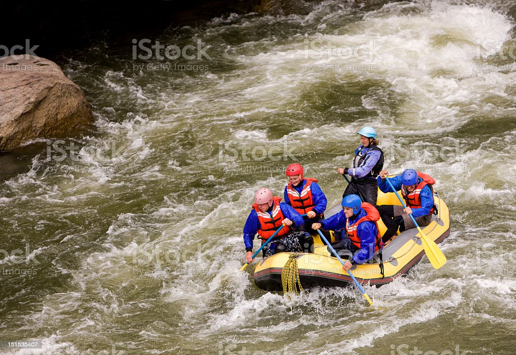 White Water Rafting on Arkansas River in Colorado USA royalty-free stock photo