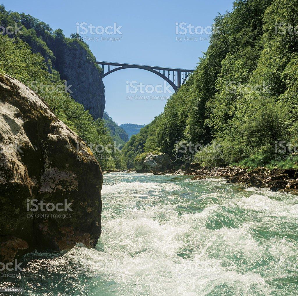 White Water Rafting on Tara River - Montenegro stock photo