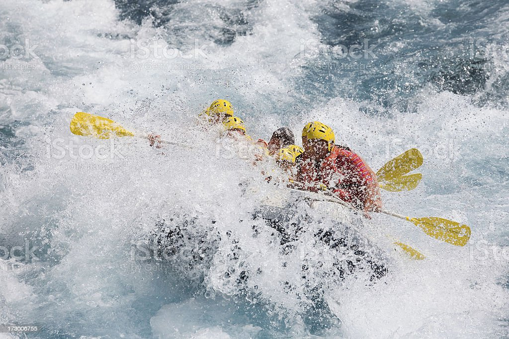 White water rafting royalty-free stock photo