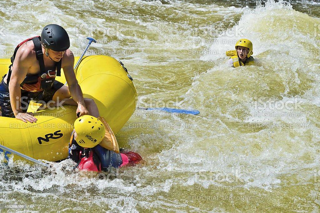 White Water Rescue, Colorado royalty-free stock photo