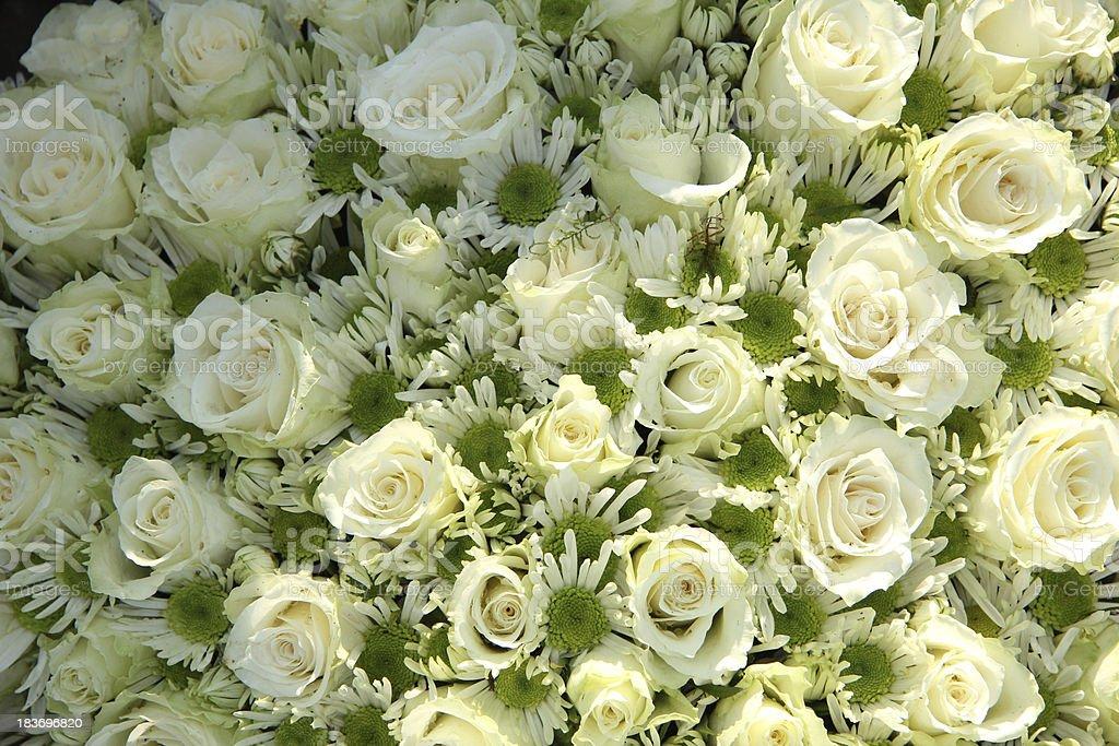 White wedding flowers royalty-free stock photo