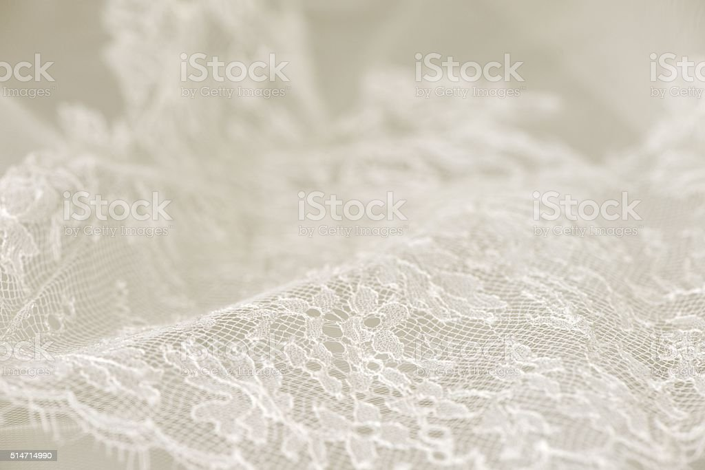 White wedding lace stock photo