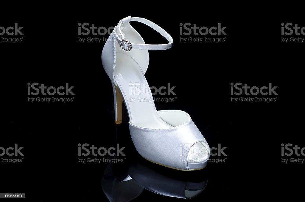 White wedding shoe royalty-free stock photo