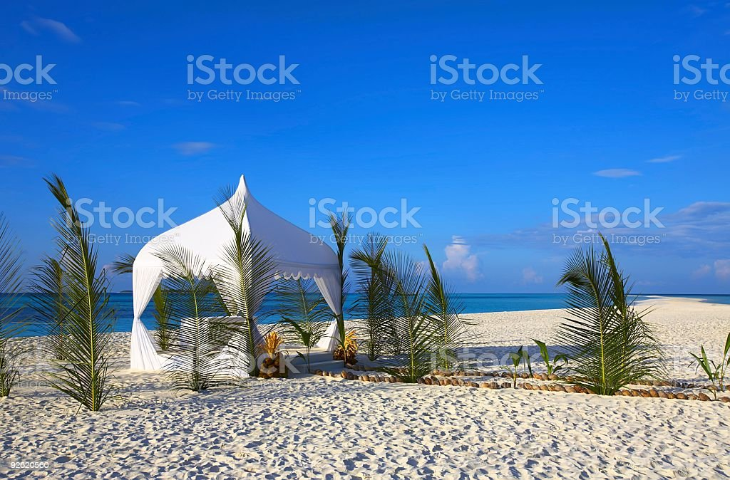 white wedding tent royalty-free stock photo