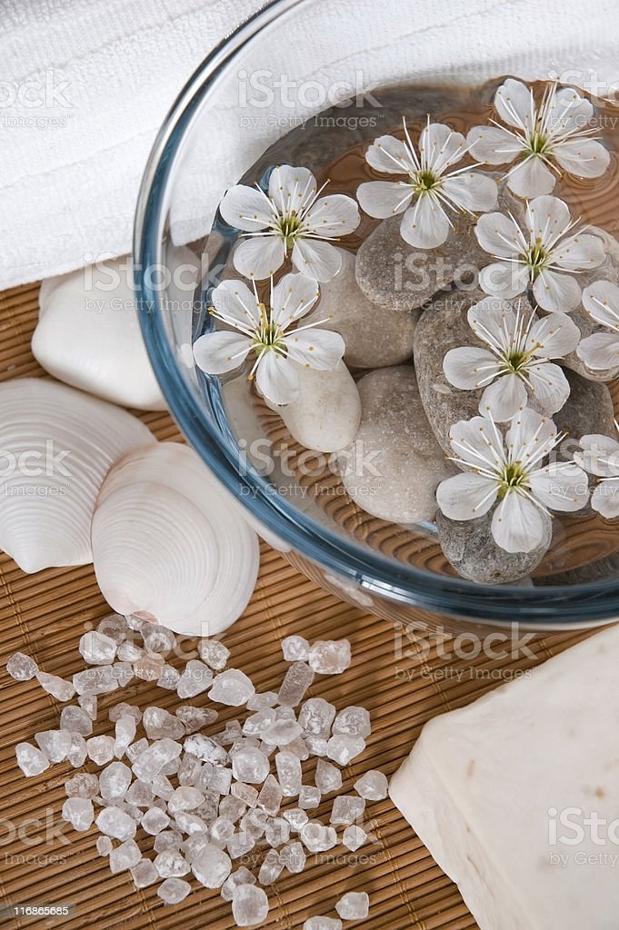 white wellness products royalty-free stock photo