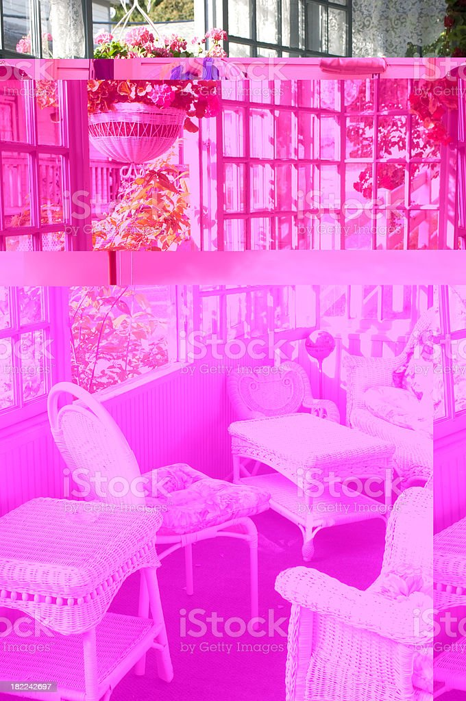 White Wicker Furniture royalty-free stock photo