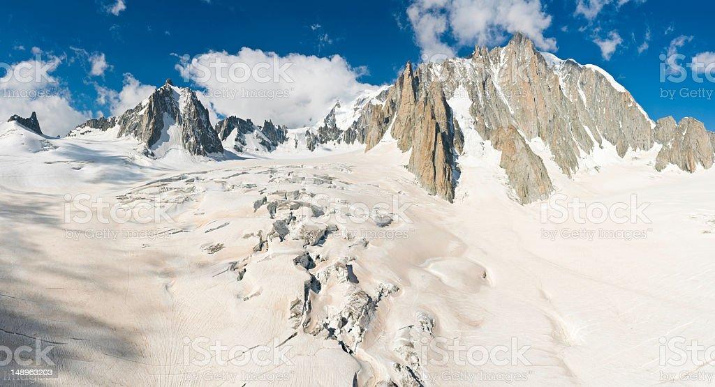 White wilderness serac and summits royalty-free stock photo