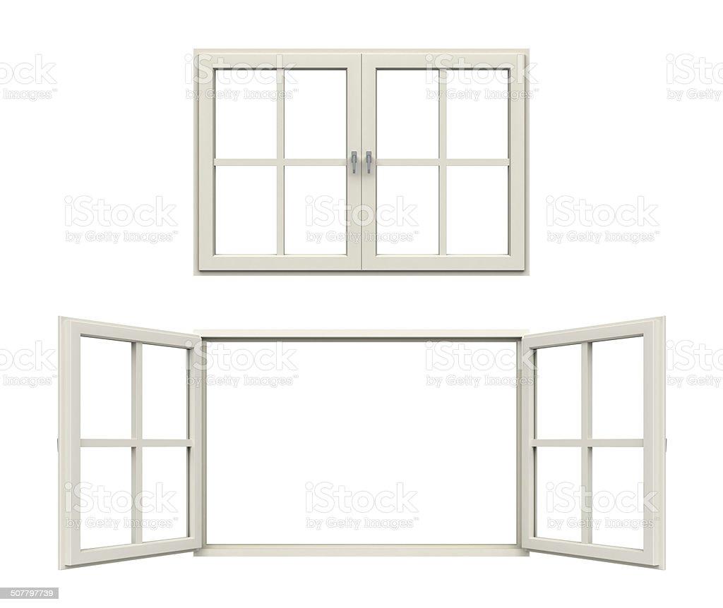 white window frame stock photo