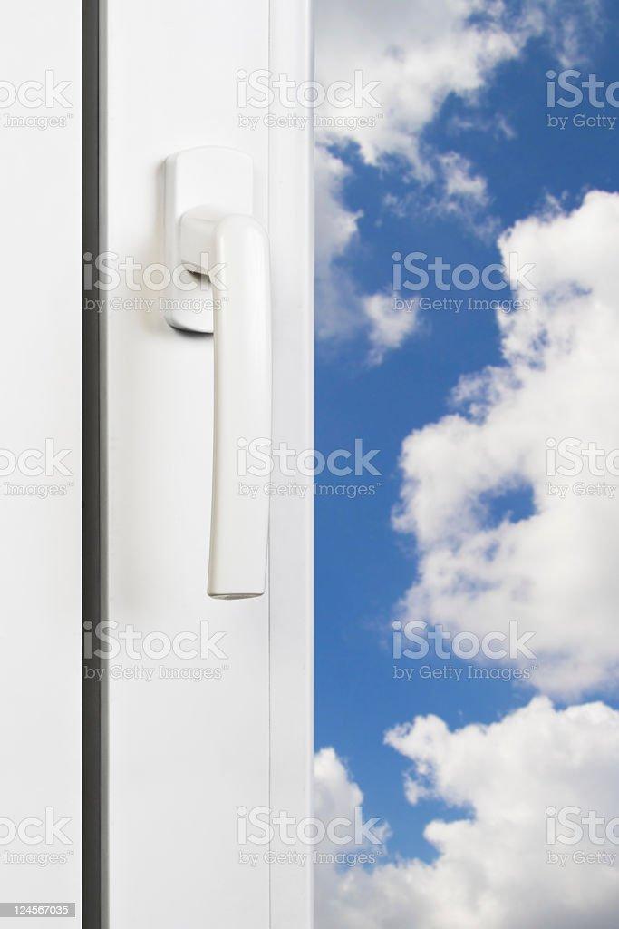 white window handle royalty-free stock photo