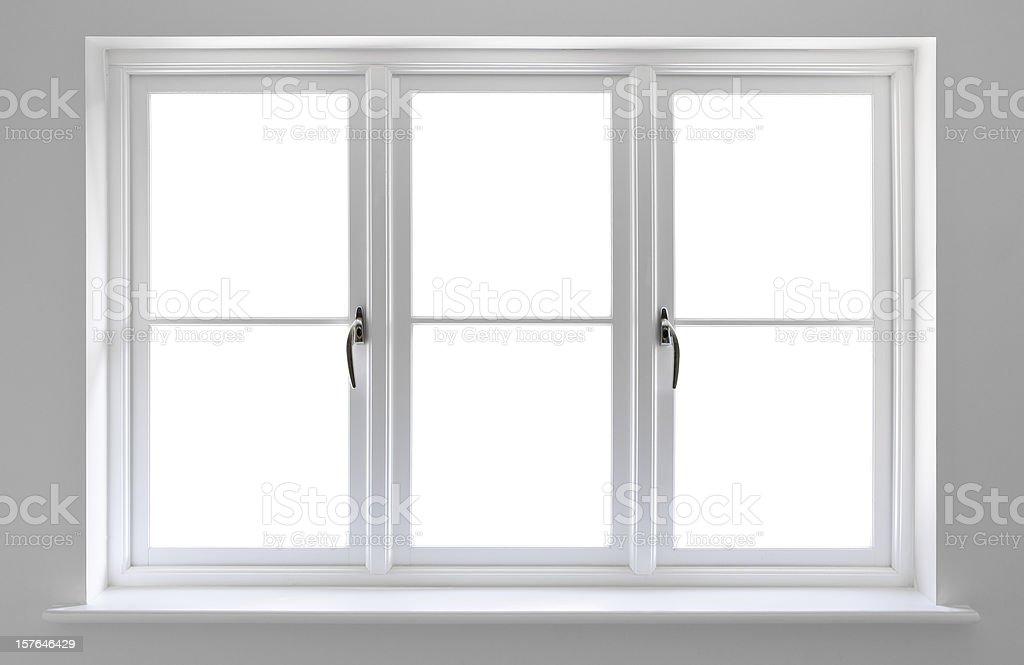 white windows stock photo