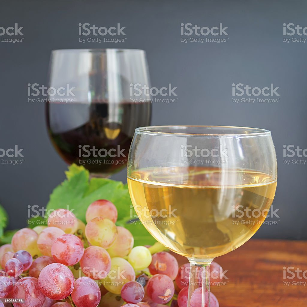 white wine and grape royalty-free stock photo