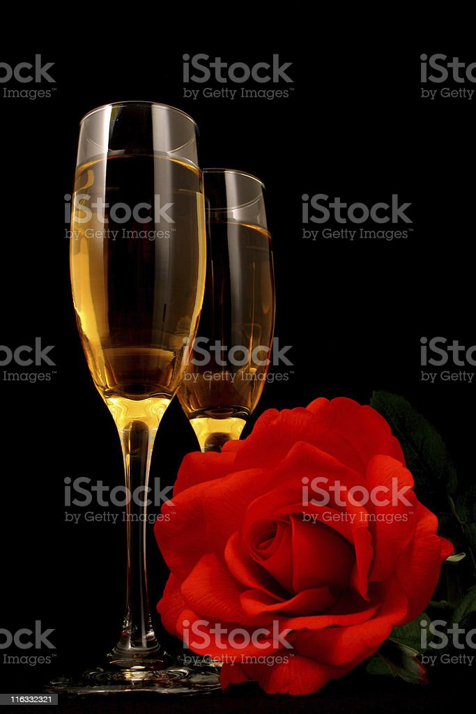 White Wine and Romance royalty-free stock photo