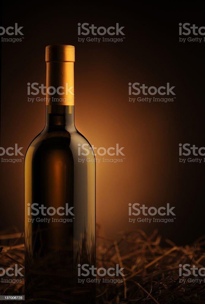 Bouteille de vin blanc photo libre de droits