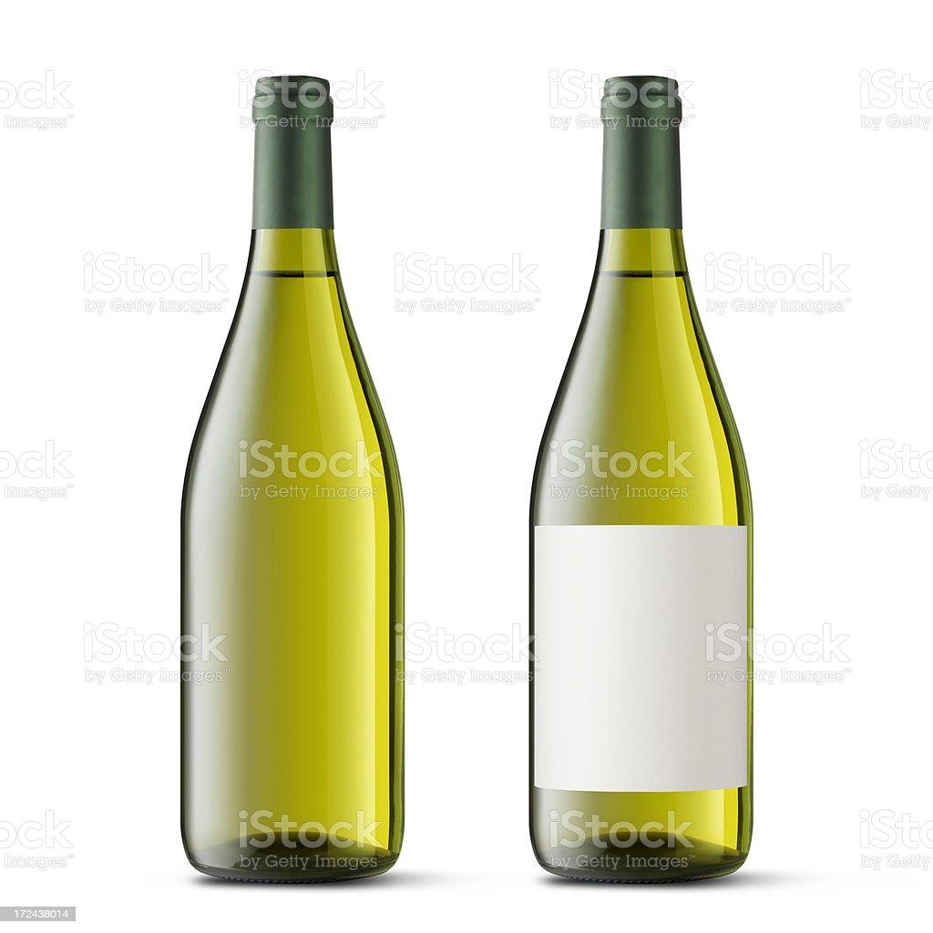 White wine bottle royalty-free stock photo