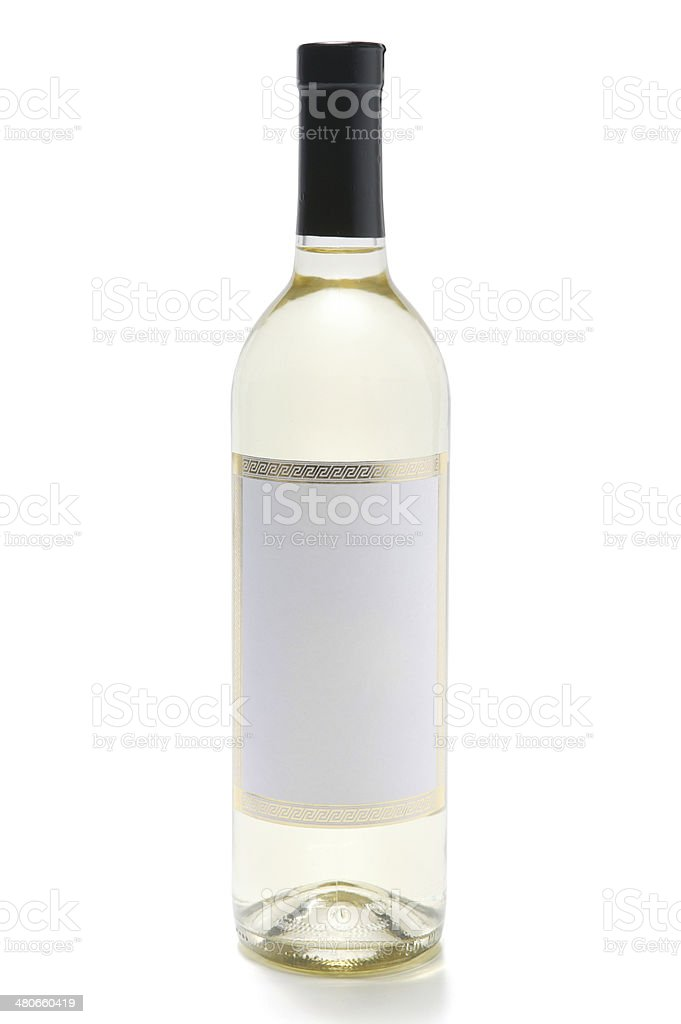 white wine bottle(with clipping path) royalty-free stock photo