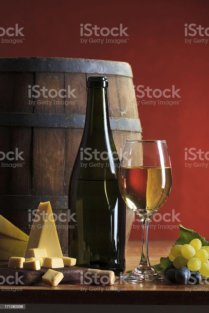 White wine composition stock photo