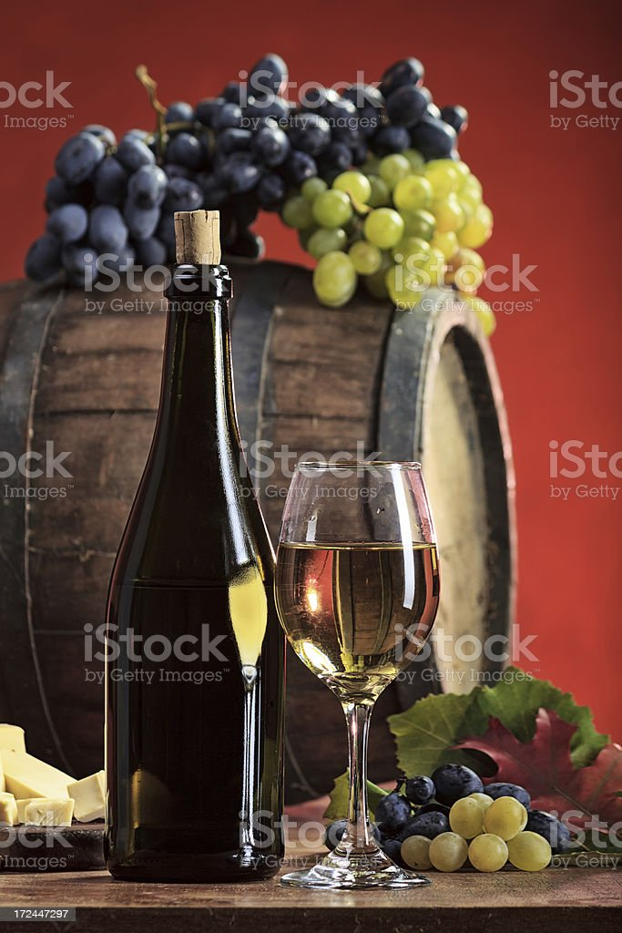 White  wine composition royalty-free stock photo
