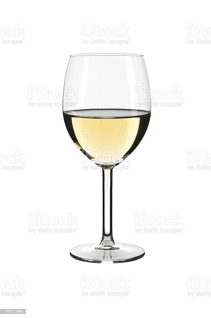 White wine glass isolated stock photo