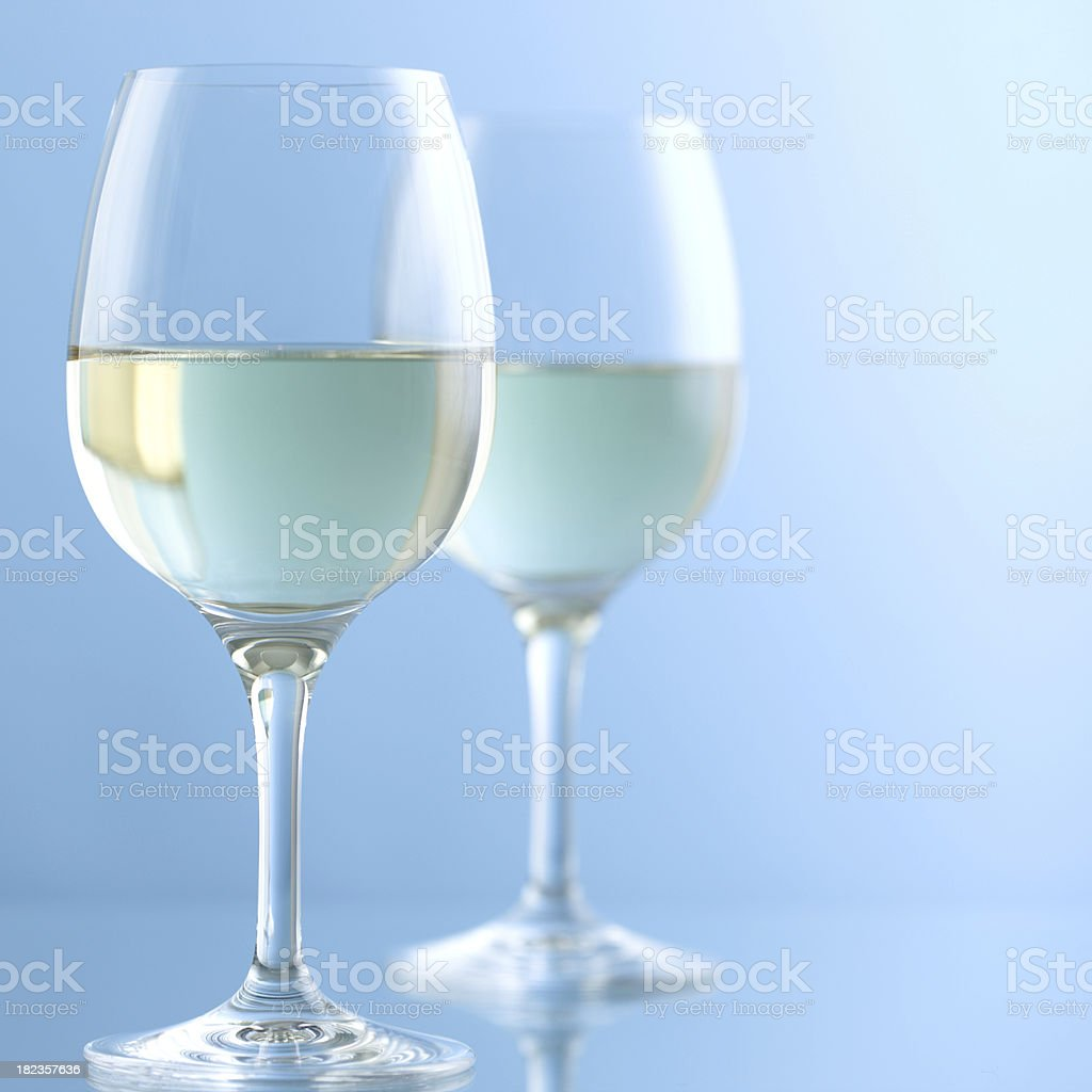 white wine glasses royalty-free stock photo