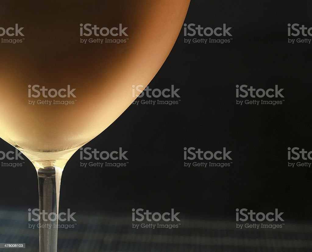 White wine in glass, black background royalty-free stock photo