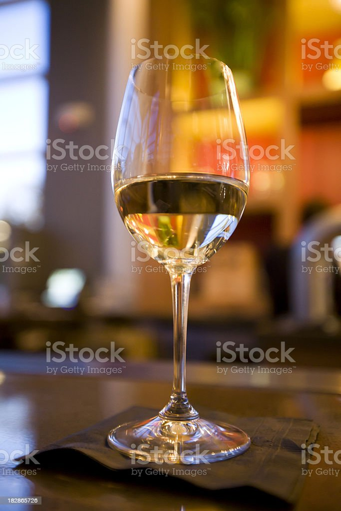 White wine on bar, adobe RGB stock photo