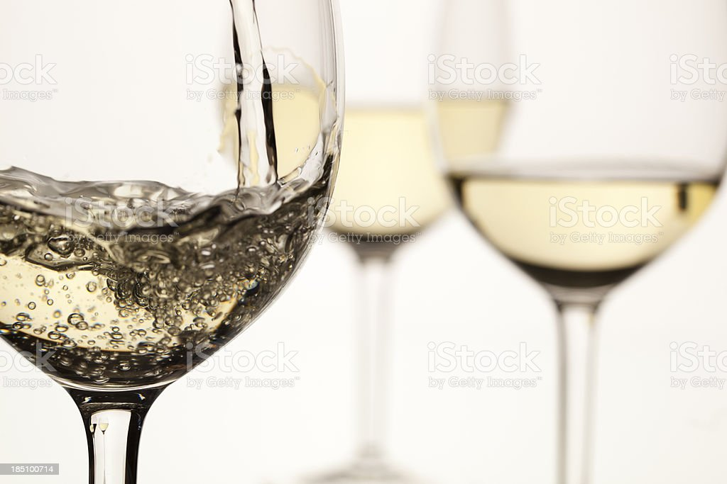 White wine royalty-free stock photo
