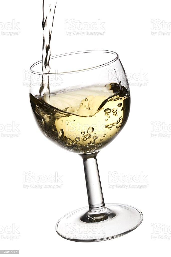White wine stock photo