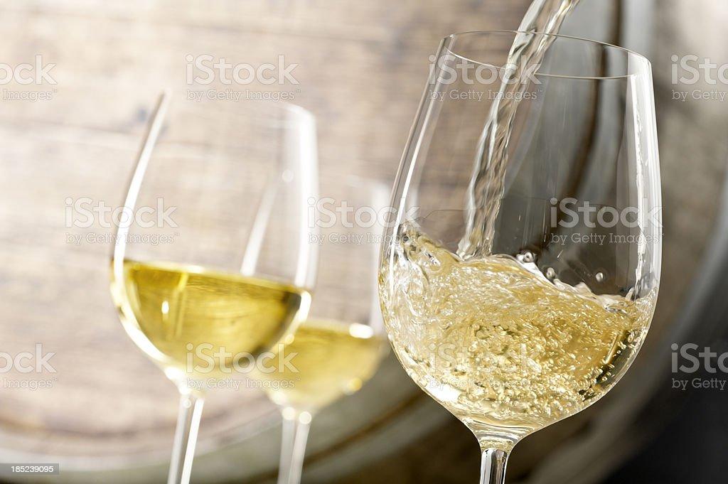 White Wine Pour stock photo
