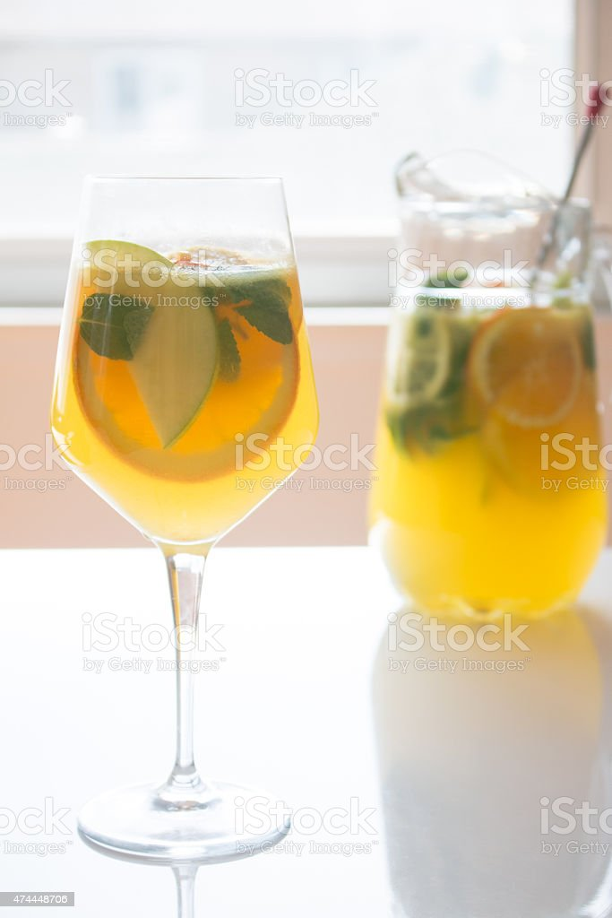 White Wine Sangria stock photo