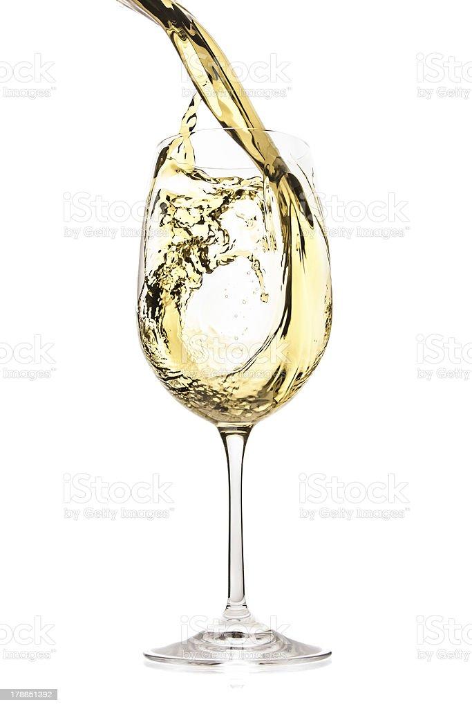 white wine splash stock photo