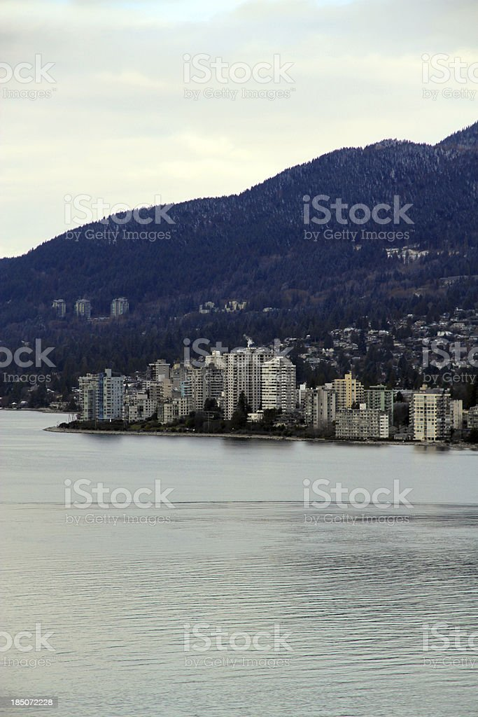 White Winter Near the Water royalty-free stock photo