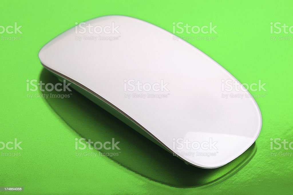 White Wireless Mouse royalty-free stock photo