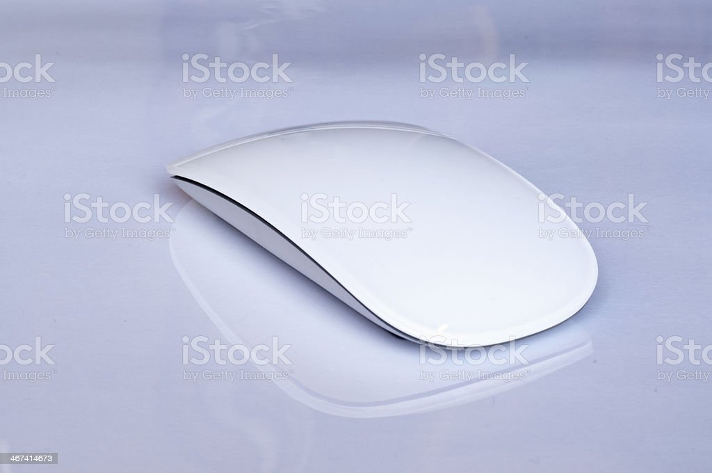 White Wireless mouse stock photo