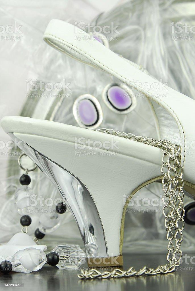white womans shoe royalty-free stock photo