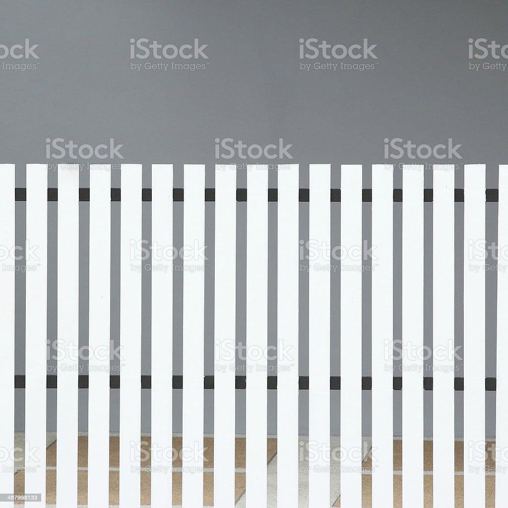 white wood fence royalty-free stock photo