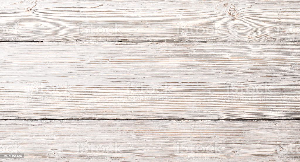 White Wood Planks Texture, Wooden Table Background stock photo