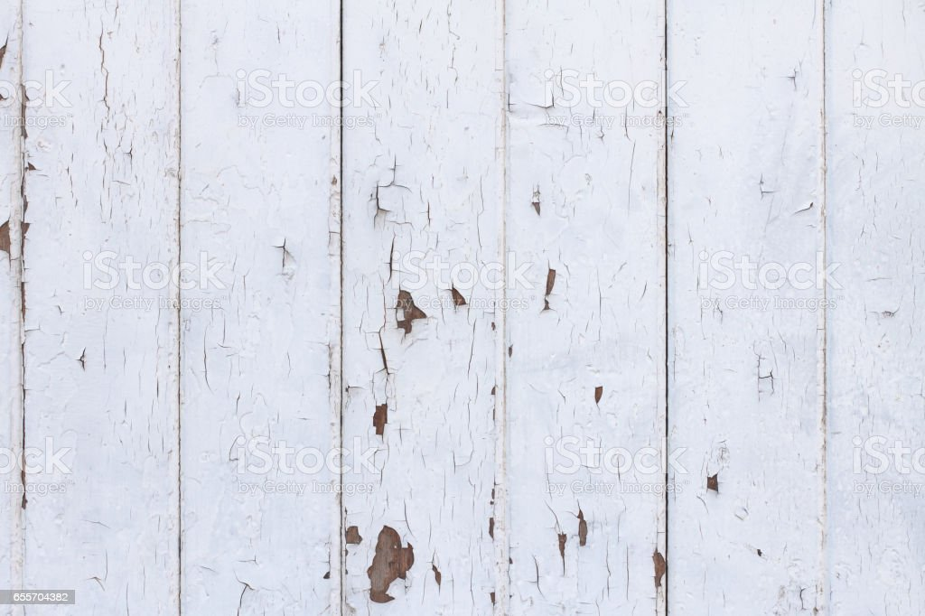 White Wood Texture Background in Shabby Chic Style – Foto